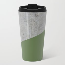 Concrete and kale color Travel Mug