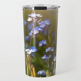 Forget me not flowers in sunlight Travel Mug
