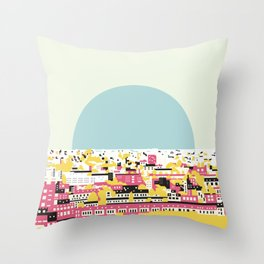 Rooftop view Throw Pillow
