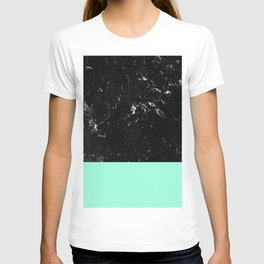 Mint Meets Black Marble #1 #decor #art #society6 T-shirt