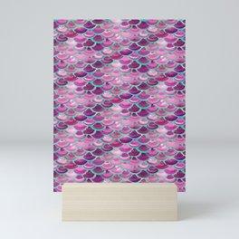 Purple Mermaid Skin Mini Art Print