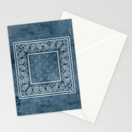 Blue Denim Bandana Stationery Cards