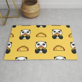 Cute Kawaii Taco Panda Pattern! Rug