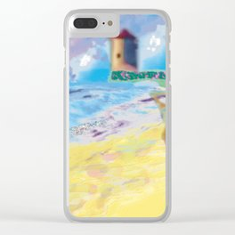 Côte Sauvage at the Atlantic in France. Clear iPhone Case