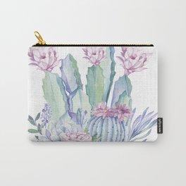 Desert Love Cactus + Succulents Carry-All Pouch