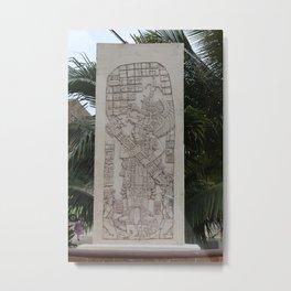 Coba Maya Stele Art Yucatan Metal Print