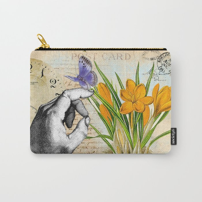 Vintage Crocus Flower #10 Carry-All Pouch