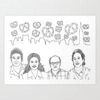seinfeld Art Prints featuring Seinfeld by klingonfeminist