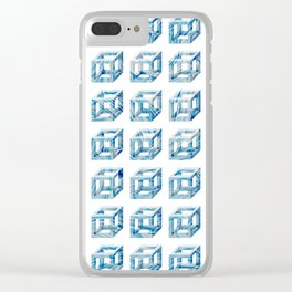 Impossible cubes Clear iPhone Case