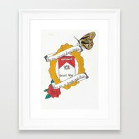 brand new Framed Art Prints featuring Brand New by Sarah Hinds