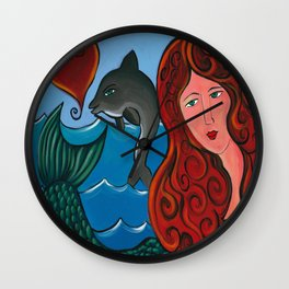 Goddess Of The Sea Wall Clock