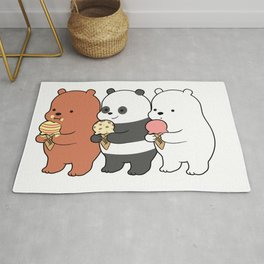 Baby Bears Eating Some Ice Cream Rug