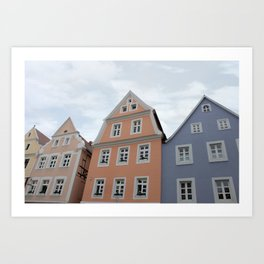 Pastel Houses - JUSTART © Art Print