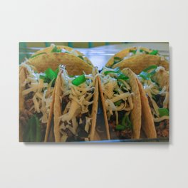 mexican themed tacos Metal Print