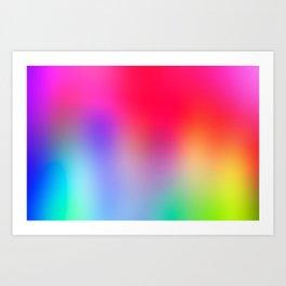Fluorescent Neon Colors Art Print