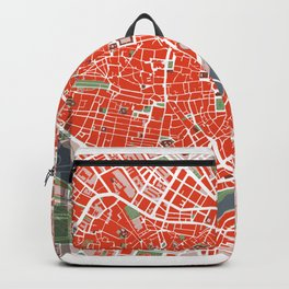 Seville city map classic Backpack