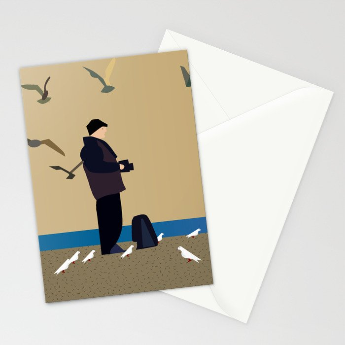 Photographer on the beach Stationery Cards