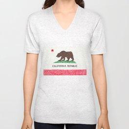 The California Republic Unisex V-Neck