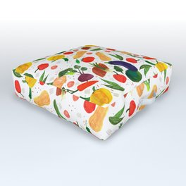 Veggie fest Outdoor Floor Cushion