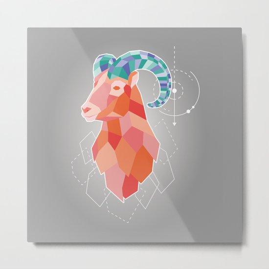 Crazy goat Metal Print