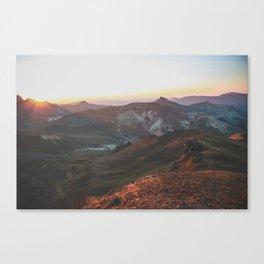 View from Wetterhorn Peak Canvas Print