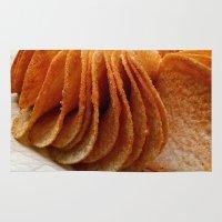 potato Area & Throw Rugs featuring Potato Chips by Guna Andersone & Mario Raats - G&M Studi