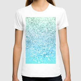 Seafoam Aqua Ocean MERMAID Girls Glitter #1 #shiny #decor #art #society6 T-shirt