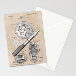 patent art Glocker Fishing reel 1906 Stationery Cards