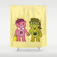 sam smith Shower Curtains featuring Sam & Suzy by pepemaracas