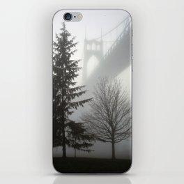 St. Johns Bridge in the fog iPhone Skin