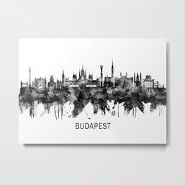 Budapest Hungary Skyline BW Metal Print
