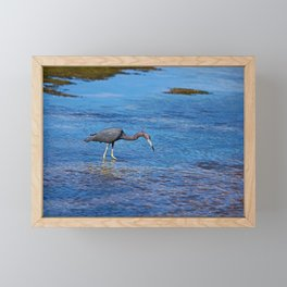 Little Blue Hunter Framed Mini Art Print