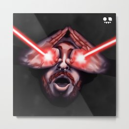 laser eyes Metal Print