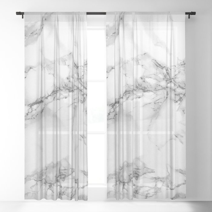 Marble - Gray Sheer Curtain
