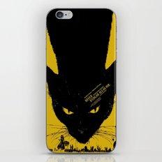 Vintage poster - Black Cat iPhone Skin