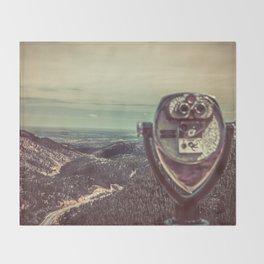 Wanderlust Vintage Tourist Binoculars Throw Blanket