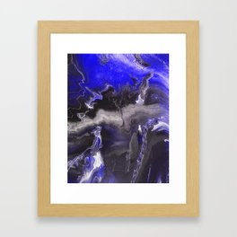 Purple Blue Lightning Framed Art Print