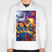 x men Hoodies featuring X - MEN by Vincent Trinidad