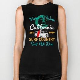 Hunting The Waves California Surfing T-shirt Biker Tank