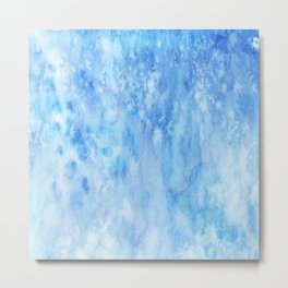 Blue Salt Metal Print