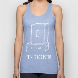 T-Bone Apple box (white) Unisex Tank Top