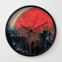 sunshine Wall Clocks featuring Last Sunshine by Fernando Vieira