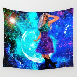 Galaxy Girl Wall Tapestry