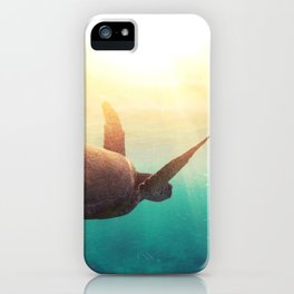 Sea Turtle - Underwater Nature Photography iPhone Case