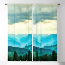 Clouded Beauty Blackout Curtain