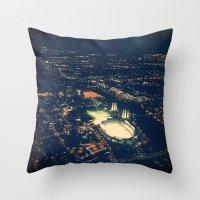 ohio state Throw Pillows featuring Ohio State by Alisha Williams