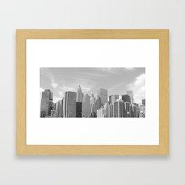 New York City skyline from Brooklyn Bridge  Framed Art Print