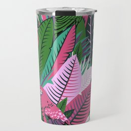 Parrot tropical print Travel Mug