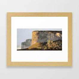 Small corner Framed Art Print