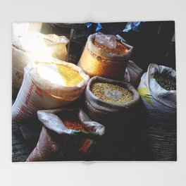 Mercado in Sunbeam Throw Blanket